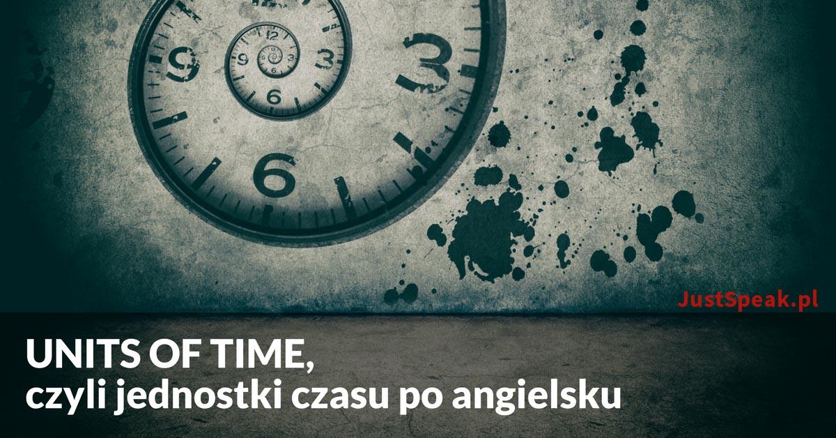 UNITS OF TIME, czyli jednostki czasu po angielsku
