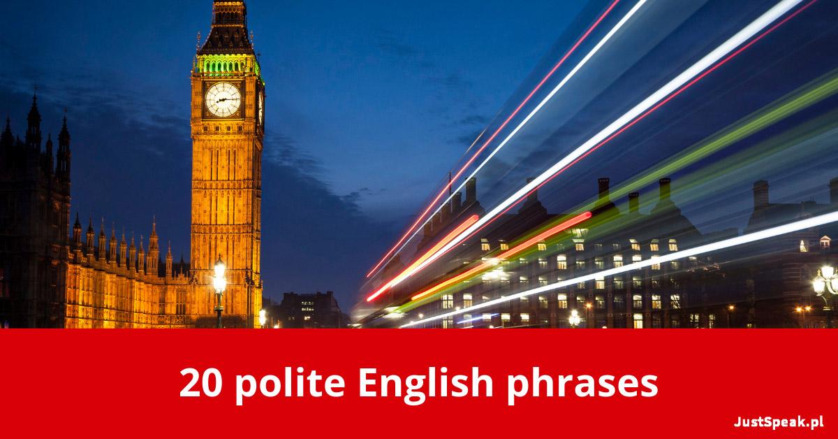 20 polite English phrases